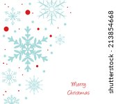 christmas snowflakes background | Shutterstock .eps vector #213854668
