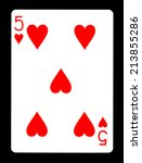 Five Of Hearts Playing Card ...