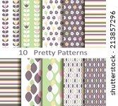 set of ten pretty patterns | Shutterstock .eps vector #213857296