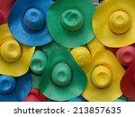multicolored hat | Shutterstock . vector #213857635