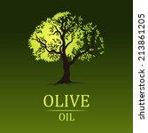 tree  on vintage paper. olive...   Shutterstock .eps vector #213861205