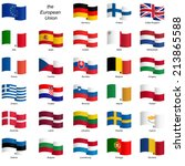 collection of country flags... | Shutterstock .eps vector #213865588