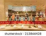 bangkok   jun 22  kid fashion... | Shutterstock . vector #213866428