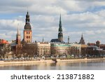 Riga Skyline.  A View Across...