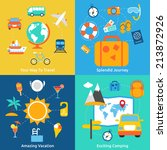business concept flat icons set ... | Shutterstock . vector #213872926