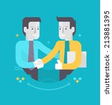 partnership and cooperation in... | Shutterstock .eps vector #213881395