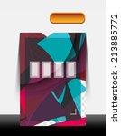 a4 cmyk modern flyer design | Shutterstock . vector #213885772
