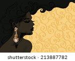 vector closeup portrait of a...