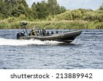 Military boats patrolling