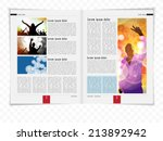 layout magazine  vector | Shutterstock .eps vector #213892942