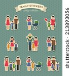 set of color family  parent... | Shutterstock . vector #213893056
