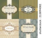 set of vintage frame | Shutterstock .eps vector #213894082