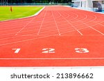 running track numbers one two... | Shutterstock . vector #213896662