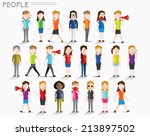 women talk and gather together... | Shutterstock .eps vector #213897502