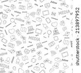 seamless  social network media... | Shutterstock . vector #213897952