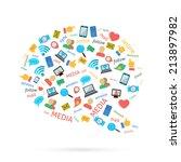 social media computer networks... | Shutterstock . vector #213897982
