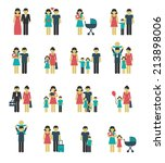 family figures icons set of... | Shutterstock . vector #213898006