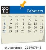 calendar 2015 february | Shutterstock .eps vector #213907948