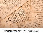 old manuscripts written on old... | Shutterstock . vector #213908362