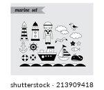 marine set | Shutterstock .eps vector #213909418