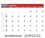 october 2015 planning calendar | Shutterstock .eps vector #213912112