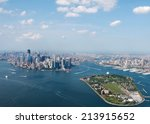New York City Sky View With...