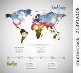 world map infographic template... | Shutterstock .eps vector #213916108