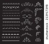 set vintage decorative frames ...   Shutterstock .eps vector #213917398