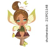 a beautiful fairy isolated on a ... | Shutterstock .eps vector #213921148