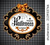 halloween card   Shutterstock .eps vector #213933766