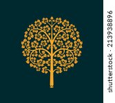 golden bodhi tree symbol with... | Shutterstock .eps vector #213938896