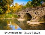 Stone Bridge Over A Creek In...