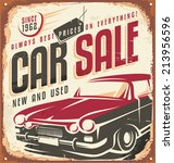car sale   promotional vintage... | Shutterstock .eps vector #213956596