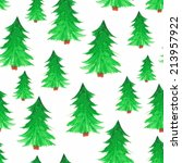 seamless pattern with new year... | Shutterstock . vector #213957922