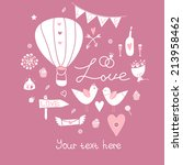 vector vintage wedding... | Shutterstock .eps vector #213958462