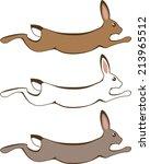 Stock vector running rabbit 213965512