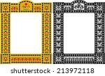 Egyptian Frame With Scarabs An...
