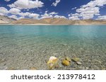 pangong tso or pangong lake ... | Shutterstock . vector #213978412
