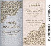 baroque wedding invitation ... | Shutterstock .eps vector #213988702