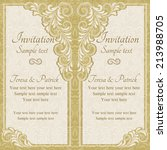 antique baroque wedding... | Shutterstock .eps vector #213988705