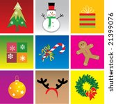 christmas elements  vector... | Shutterstock .eps vector #21399076