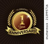 celebrating 1 year anniversary  ... | Shutterstock .eps vector #213995716
