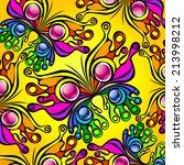 beautiful decorative ornament...   Shutterstock .eps vector #213998212