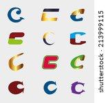 unusual letters c set  ... | Shutterstock .eps vector #213999115