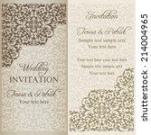 baroque wedding invitation ... | Shutterstock .eps vector #214004965