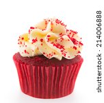 Red Velvet Cupcakes Isolated O...