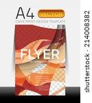 vector a4 cmyk modern flyer... | Shutterstock .eps vector #214008382
