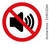 no sound sign | Shutterstock .eps vector #214013266