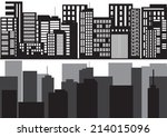 set of vector cities silhouette ...
