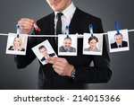 midsection of businessman... | Shutterstock . vector #214015366